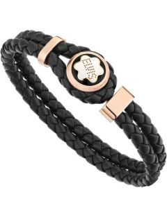 This is the Montblanc Elvis Presley Special Edition Woven Leather Bracelet.
