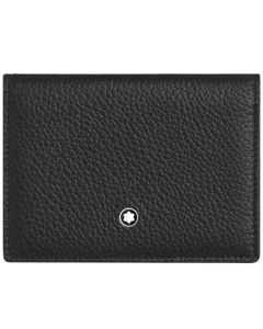 This is the Montblanc Meisterstück My Office Black and Gold Business Card Holder.
