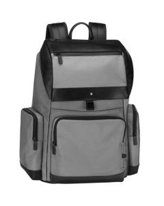 This is the Montblanc Large Grey NightFlight Backpack with Flap.
