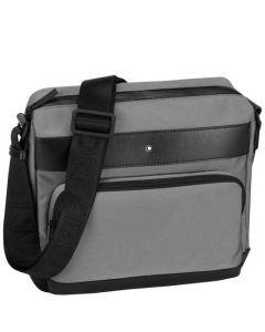 This is the Montblanc Grey Nightflight Zip-Top Reporter Bag.
