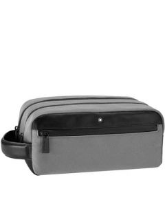 This is the Montblanc Grey Nightflight Wash Bag.