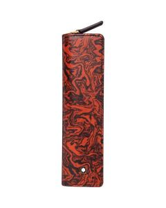 This is the Montblanc Sartorial Heritage Marble Zip-Around 1 Pen Pouch.