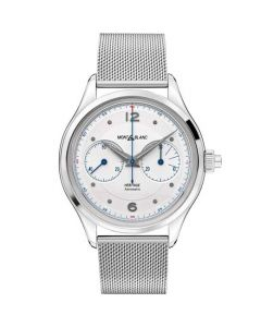 This is the Montblanc Silver Heritage Monopusher Chronograph Steel Watch.