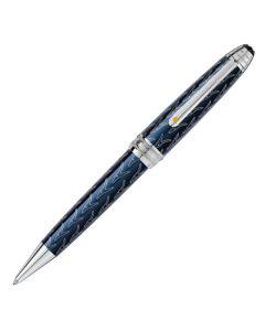 The Montblanc Le Petit Prince midsize blue Meisterstück Solitaire ballpoint pen.