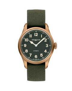 This is the Montblanc Limited Edition 1858 Automatic Khaki Watch.