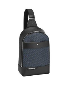 This is the Montblanc 4810 M_Gram Black/Blue Sling Bag.