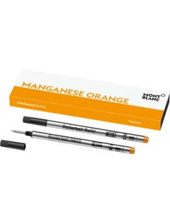 This is the Montblanc Manganese Orange Rollerball Refill (M).