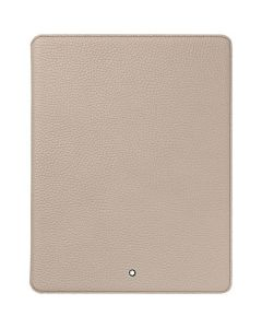 Montblanc Apple iPad soft grain leather case in beige.