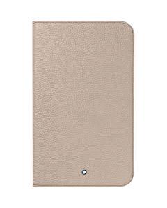 "Montblanc Meisterstuck soft grain leather tablet case in beige for Samsung 3 8""."