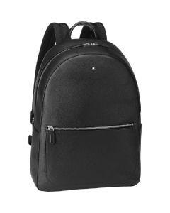 This is the Montblanc Medium Black Meisterstück Soft Grain Backpack.