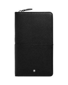 This is the Montblanc Black Meisterstück Soft Grain Travel Wallet.