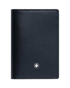 This is the Montblanc Meisterstück Degradè Navy Business Card Holder with Gusset.