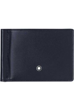 This is the Montblanc Meisterstück Degradè Navy 6CC Wallet with Money Clip.