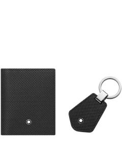 This is the Montblanc Meisterstück Selection 3CC Business Card Holder & Key Fob Gift Set.