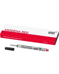 This is the Montblanc Modena Red Capless Rollerball Refill (M).