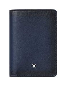 This is the Montblanc Navy Meisterstück Sfumato U Gusset Card Holder.