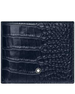 This is the Montblanc Blue Mock Croc Meisterstück Selection 6CC Wallet.