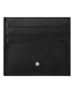 The Montblanc black smooth leather 3CC NightFlight card holder.