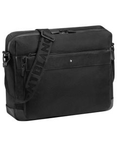 The Montblanc black nylon messenger bag with pouch in the NightFlight collection.