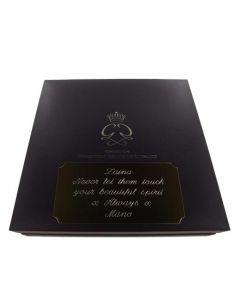 Montblanc pen box with plaque engraving.