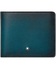 This is the Montblanc Petrol Blue Meisterstück Sfumato 8CC Wallet.