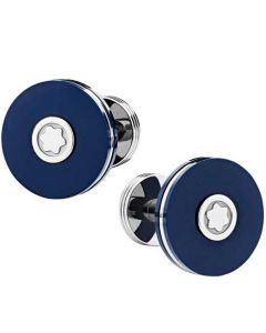 These are the Montblanc PIX Navy Precious Resin Cufflinks.