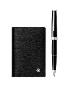 This is the Montblanc Black PIX Rollerball and Black 4810 Westside Business Card Holder Pen Set.