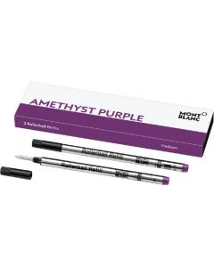 Montblanc pack of 2 classique amethyst purple rollerball refills.