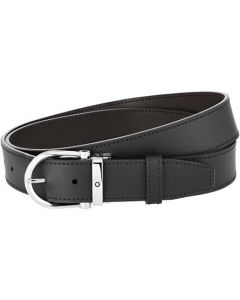 This is the Montblanc Casual Line Horseshoe Stainless Steel Pin Buckle Reversible Belt.