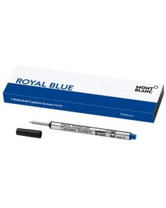 These are the Montblanc Royal Blue Capless Rollerball Refill (M).