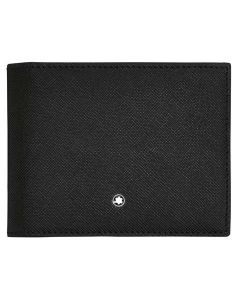 Front view of Montblanc Sartorial 4cc wallet with money clip.