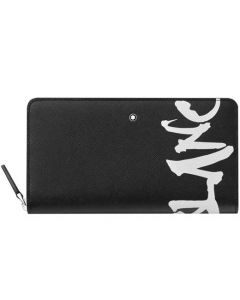 This is the Montblanc Sartorial Calligraphy Black 12CC Wallet.
