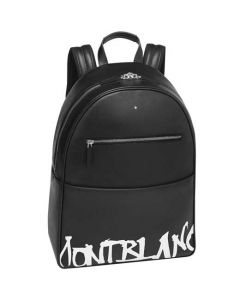 This is the Montblanc Sartorial Calligraphy Black Dome Backpack.