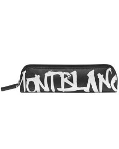 This is the Montblanc Sartorial Calligraphy Black 2 Pen Zip-Top Pouch.