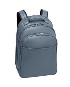 This is the Montblanc Sartorial Denim Blue Leather Small Backpack.