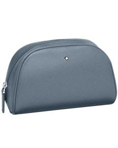 This is the Montblanc Sartorial Leather Large Denim Blue Vanity Bag.