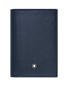This is the Montblanc Sartorial Evolution Blue Business Card Holder.