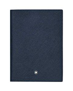 This is the Montblanc Sartorial Evolution Blue Passport Holder.