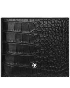 8CC Black Mock Croc Meisterstück Selection Wallet