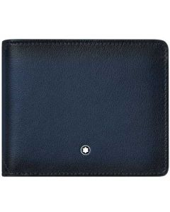 This is the Montblanc Navy Meisterstück Sfumato 6CC Wallet.