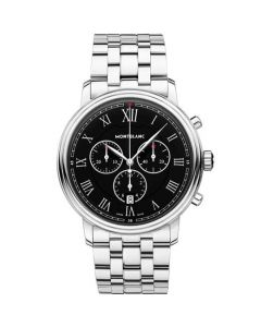 This is the Montblanc Tradition Chronograph Stainless Steel Watch.