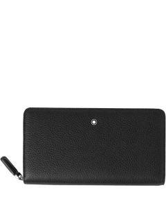This is the Montblanc Black Meisterstück Soft Grain 12CC Zip Around Wallet.