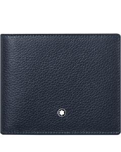 This is the Montblanc Blue Meisterstück Soft Grain 6CC Wallet.