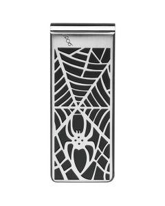 Montblanc money clip with spider web design.