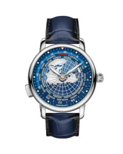 This is the Montblanc Star Legacy Blue Sfumato Orbis Terrarum Watch.