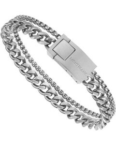 This is the Montblanc Stainless Steel Wrap Me Multi-Chain Bracelet.