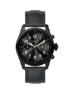 This black watch has been designed by montblanc as part of their summit 2 collection.