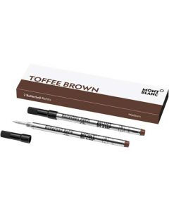 These are the Montblanc Toffee Brown Rollerball Refills (M).