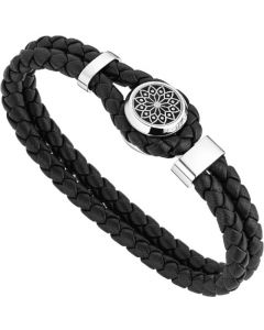 This is the Montblanc Homage to Victor Hugo Woven Leather Bracelet.