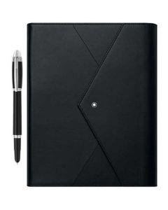 This is the Montblanc Volume 3 Black Augmented Paper & StarWalker Ballpoint Pen Set.